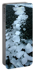 Portable Battery Charger featuring the photograph Ice Pebbles by Amanda Stadther