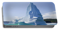 Portable Battery Charger featuring the photograph Iceberg Canada by Liz Leyden