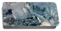 Iceberg Detail - Mendenhall Lake Portable Battery Charger