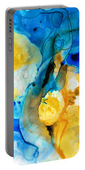 Portable Battery Charger featuring the painting Iced Lemon Drop - Abstract Art By Sharon Cummings by Sharon Cummings