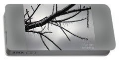 Portable Battery Charger featuring the photograph Iced Tree by Ann Horn