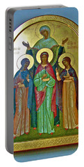 Icon Inside Chesme Church Built By Catherine The Great In Saint  Petersburg-russia Portable Battery Charger