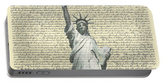 Icon Of Freedom Portable Battery Charger by Charles Beeler
