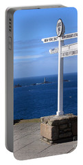 Portable Battery Charger featuring the photograph Iconic Lands End England by Terri Waters