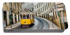 Iconic Lisbon Streetcar No. 28 IIi Portable Battery Charger by Marco Oliveira