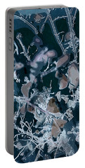 Portable Battery Charger featuring the digital art Icy Cool by Joanne Smoley