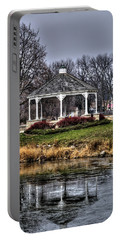 Portable Battery Charger featuring the photograph Icy Reflection by Deborah Klubertanz