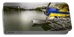 Idle Float Plane At Juneau Airport Portable Battery Charger by Darcy Michaelchuk