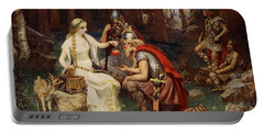 Idun And The Apples, Illustration Portable Battery Charger