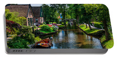 Idyllic Village 15. Venice Of The North Portable Battery Charger by Jenny Rainbow