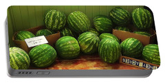 Portable Battery Charger featuring the photograph If I Had A Watermelon by Patricia Greer