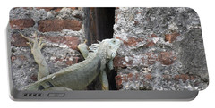 Portable Battery Charger featuring the photograph Iguana by David S Reynolds