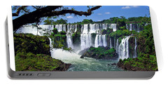 Iguazu Falls In Argentina Portable Battery Charger by Joan  Minchak