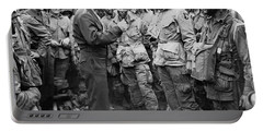 Ike With D-day Paratroopers Portable Battery Charger