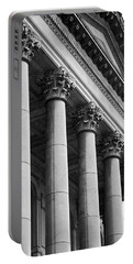 Illinois Capitol Columns B W Portable Battery Charger