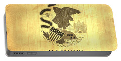 Illinois State Flag Barn Wall Portable Battery Charger