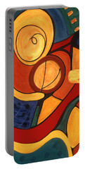 Portable Battery Charger featuring the painting Illuminatus 3 by Stephen Lucas