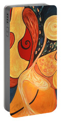 Portable Battery Charger featuring the painting Illuminatus 4 by Stephen Lucas
