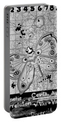 Portable Battery Charger featuring the digital art Imaginary Lines by Carol Jacobs