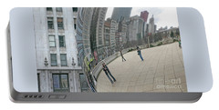 Portable Battery Charger featuring the photograph Imaging Chicago by Ann Horn