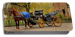 Immaculate Horse And Carriage Bruges Belgium Portable Battery Charger