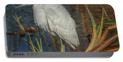 Immature Little Blue Heron Portable Battery Charger by Jane Luxton