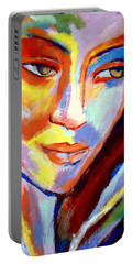Portable Battery Charger featuring the painting Immersed by Helena Wierzbicki