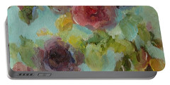 Impressionist Floral  Portable Battery Charger
