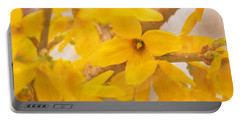 Impressionist Forsythia Portable Battery Charger