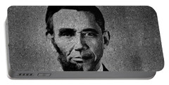 Impressionist Interpretation Of Lincoln Becoming Obama Portable Battery Charger