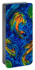 Impressionist Koi Fish By Sharon Cummings Portable Battery Charger