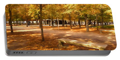 Impressions Of Paris - Tuileries Garden - Come Sit A Spell Portable Battery Charger