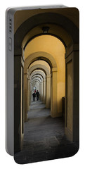 In A Distance - Vasari Corridor In Florence Italy  Portable Battery Charger