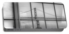 in a window the Bay Bridge Portable Battery Charger