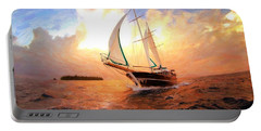 In Full Sail - Oil Painting Edition Portable Battery Charger