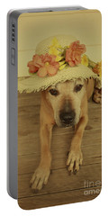 In Her Easter Bonnet Portable Battery Charger