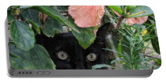 Portable Battery Charger featuring the photograph In His Jungle by Peggy Hughes