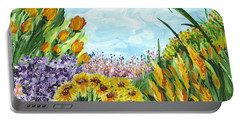 In My Garden Portable Battery Charger by Holly Carmichael