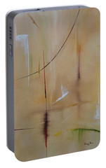 Portable Battery Charger featuring the painting In Pursuit Of Youth by Judith Rhue