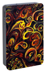 Portable Battery Charger featuring the painting In Search Of  Ultimate Truth by Harsh Malik