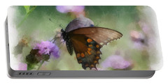 In The Flowers Portable Battery Charger by Kerri Farley