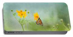 In The Garden - Monarch Butterfly Portable Battery Charger