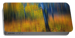 In The Golden Woods. Impressionism Portable Battery Charger by Jenny Rainbow