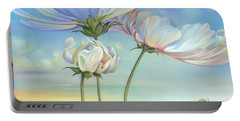 In The Half-shadow Of Wild Flowers Portable Battery Charger
