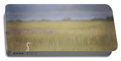 Portable Battery Charger featuring the photograph In The Marsh  by Kerri Farley