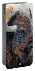 Bison The Mighty Beast Bison Das Machtige Tier North American Wildlife By Olena Art Portable Battery Charger