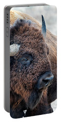 In The Presence Of  Bison - Yes Paint Him Portable Battery Charger