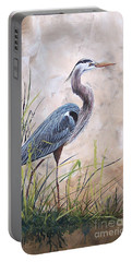 In The Reeds-blue Heron-a Portable Battery Charger