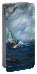 In The Storm Portable Battery Charger by Dorothy Maier