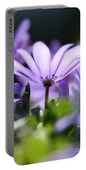 Floral Purple Light  Portable Battery Charger